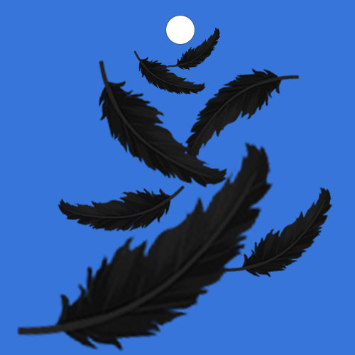 볼이 날아가는 자리 뒤로 깃털이 흩날리는 볼꼬리 입니다.