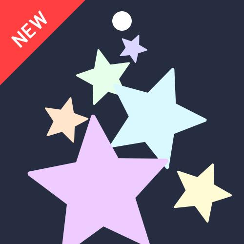 반짝반짝한 작은 별들로 아기자기한 분위기를 꾸며보세요.