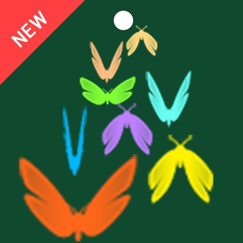 나비들이 볼을 따라 날개 짓하며 날아오는 애니메이션 형태의 볼꼬리 입니다.