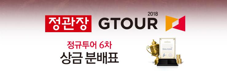 2018 정관장 GTOUR 정규투어 6차 상금 분배표