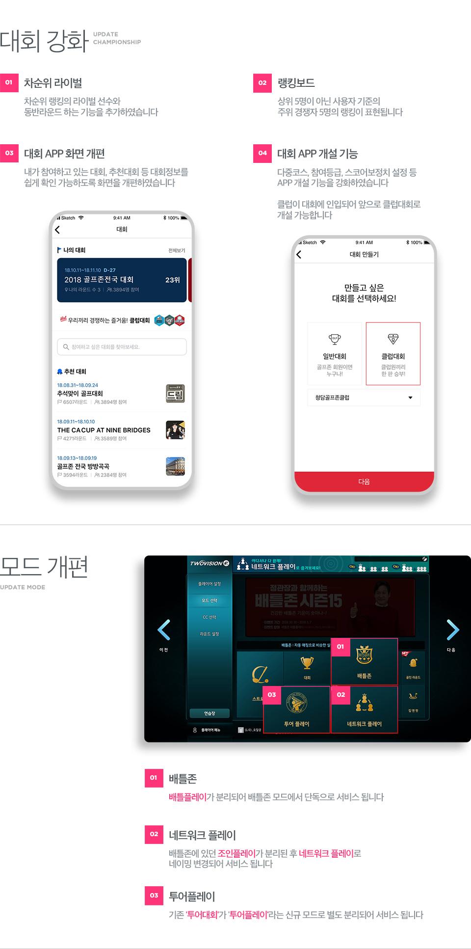 2019 신규 업데이트 내용 소개, 이하 내용 하단 참고